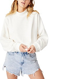 Women's Brina Brushed Rib Mock Neck Sweatshirt