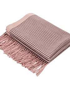Women's Striped Reversible Scarf with Tassels
