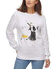 Graphic-Print Sweatshirt