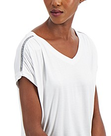 Women's Embellished Shoulder Tee