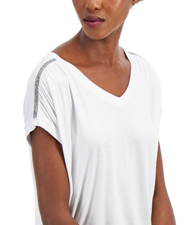 Palette Women's Embellished Shoulder Tee