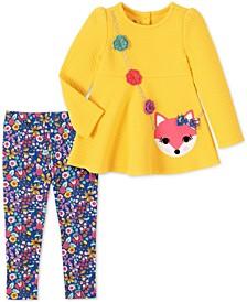 Baby Girls 2-Pc. Fox Tunic & Floral-Print Leggings Set