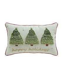 "Happy Holidays 14"" x 22"" Decorative Pillow, Created For Macy's"