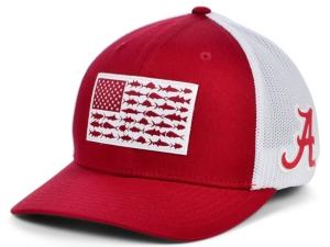 Alabama Crimson Tide Pfg Fish Flag Stretch-Fitted Cap