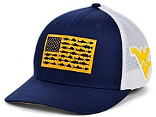 West Virginia Mountaineers PFG Fish Flag Stretch-fitted Cap