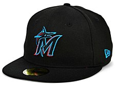 Miami Marlins 100th Patch 59FIFTY Cap