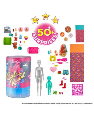 Closeout! Barbie Color Reveal Slumber Party Fun Dolls and Accessories