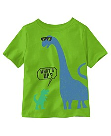 Toddler Boys Dino What's Up Short Sleeve Tee