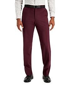 Men's Modern Fit Wine Suit Pants
