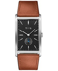 Men's Pesaro Brown Leather Strap Watch 27x45.5mm