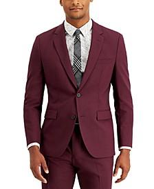 Men's Modern Fit Wine Suit Jacket