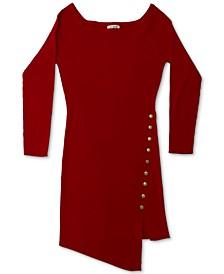 Trendy Plus Size Asymmetrical Bodycon Dress