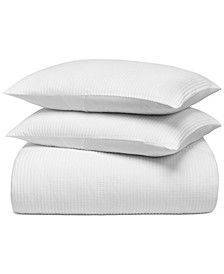 Cotton Matelassé Ribbed 3-Pc. King Duvet Cover Set, Created for Macy's