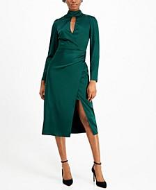 Maddie Keyhole Wrap Dress