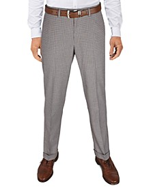 Men's Slim-Fit Cropped Stretch Plaid Dress Pants, Created for Macy's
