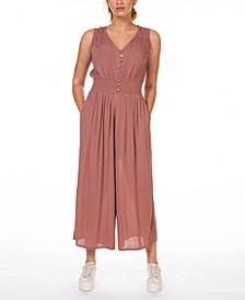 Smocked-Waist Culotte Jumpsuit, in Regular & Petite