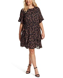 Trendy Plus Size Thurston Floral-Print Dress