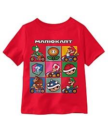 Toddler Boys Mario 9 Grid Short Sleeve Tee