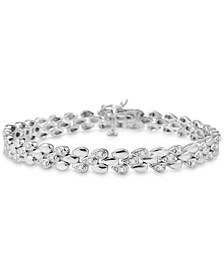 Diamond Link Bracelet (1/4 ct. t.w.) in Sterling Silver