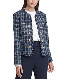 Tweed Cropped Jacket, Regular & Petite Sizes