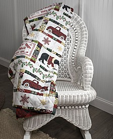 "Merry Vacation Decorative Throw, 50"" L X 60"" W"