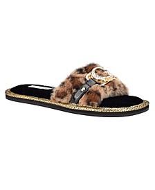 Women's Sannah Furry Sandals
