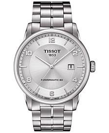 Men's Swiss Automatic Luxury Powermatic 80 Stainless Steel Bracelet Watch 41mm