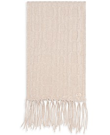 Knit Signature CK Chain Cable Scarf