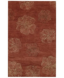 Capel Area Rug Graphique 3393 500 Hibiscus Henna 5