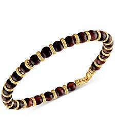 Red Tiger Eye Bead Bracelet in 14k Gold-Plated Sterling Silver, Created for Macy's