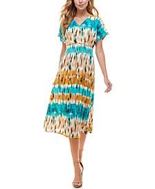 Juniors' Dolman-Sleeve Fit & Flare Dress