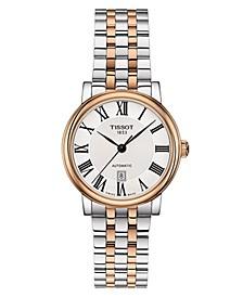 Women's Swiss Automatic Carson Premium Two-Tone Stainless Steel Bracelet Watch 30mm