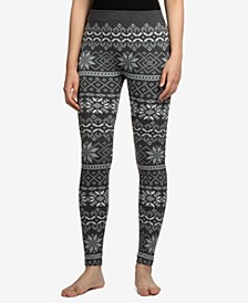 Juniors' Fairisle Fleece-Lined Leggings
