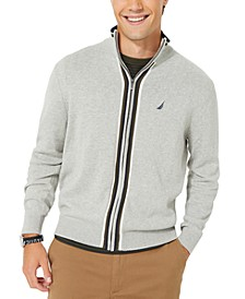 Men's Active Trim Full-Zip Sweater