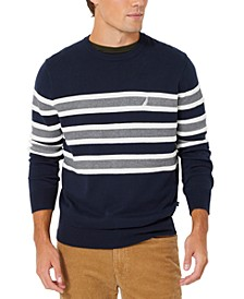 Men's Textured Stripe Crewneck Sweater