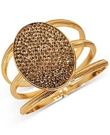 Gold-Tone Pavé Oval Triple-Row Bangle Bracelet, Created for Macy's