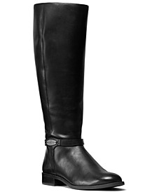 Finley Wide Calf Leather Riding Boots