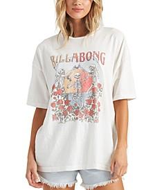 Juniors Cotton Graphic Print T-Shirt