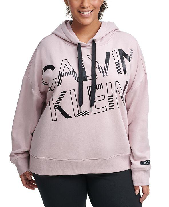Calvin Klein Plus Size Graphic Hooded Sweatshirt
