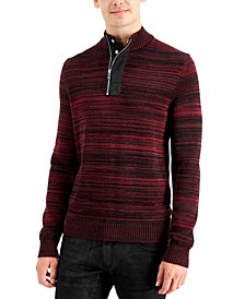 INC Men's Atrack Half-Zip Sweater, Created for Macy's