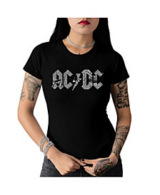 La Pop Art Women's AC/DC Word Art T-Shirt