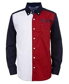 Big Boys Jude Long Sleeve Color-block Shirt