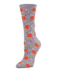 Women's Tossed Pumpkin and Dot Halloween Crew Socks