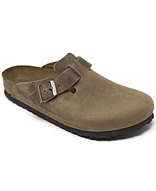 Men's Oiled Leather Boston Clogs from Finish Line