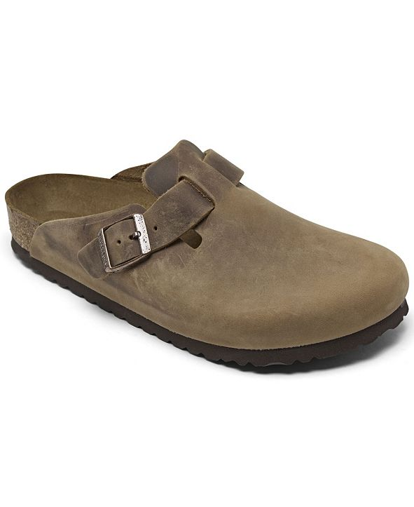 Birkenstock Men's Oiled Leather Boston Clogs from Finish Line