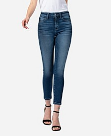 Women's High Rise Crop Skinny Jeans