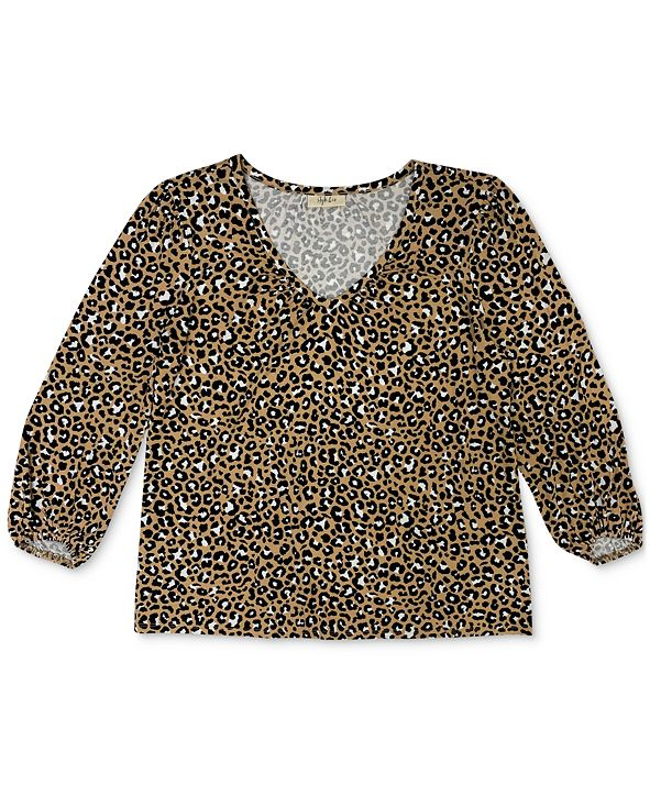 Style & Co Plus Size Printed Top, Created for Macy's