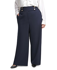 Plus Size Crepe Sailor Pants