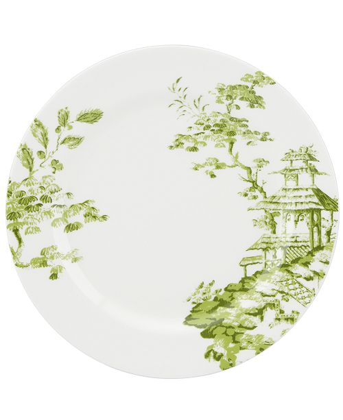 Scalamandre by Lenox, Toile Tale Chartreuse Dinner Plate