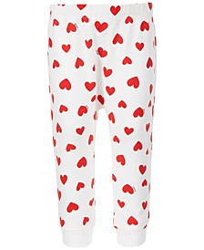 Baby Girls Heart-Print Jogger Pants, Created for Macy's